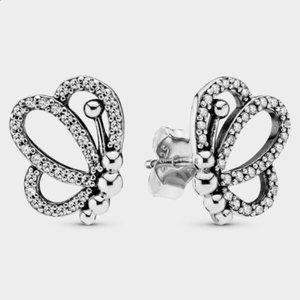 Pandora Sparkling Openwork Butterfly Earrings